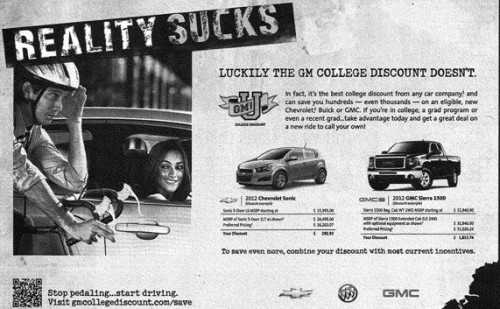 "GM ""Reality Sucks Ad"""